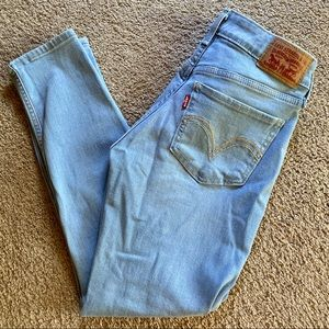 Levi's High Rise Skinny Ankle Jeans
